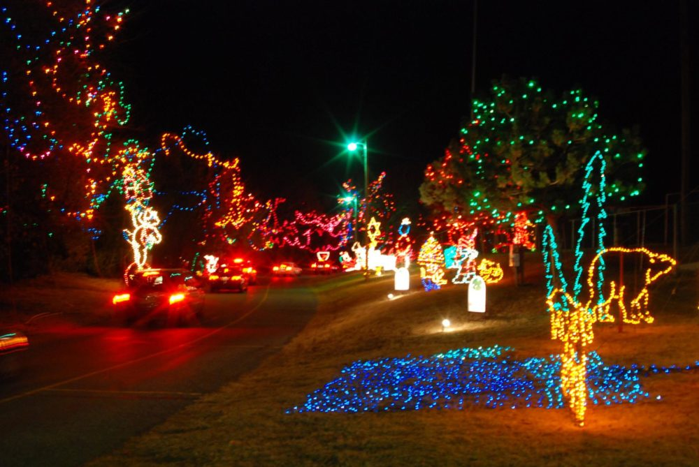 Christmas In The Park In Yukon Is The Largest Drive Thru