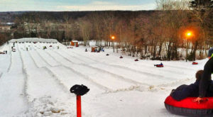 This Epic Snow Tubing Hill In Rhode Island Will Give You The Winter Thrill Of A Lifetime