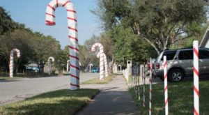 The Candy Cane Lane Hiding In Texas That Will Fill Your Heart With Holiday Spirit