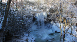 These 10 Photos Of A Frozen Cucumber Falls Near Pittsburgh Will Take Your Breath Away