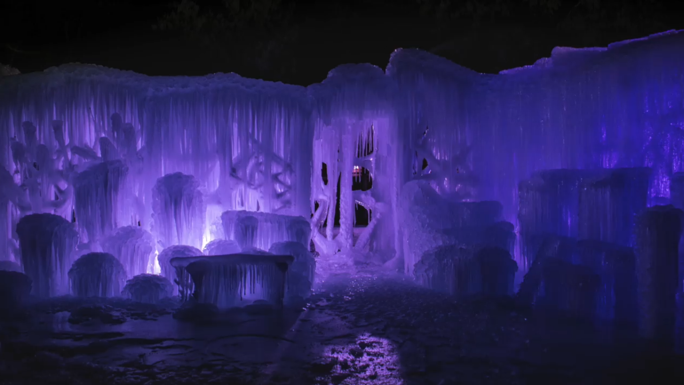 Labelle Lake In Idaho Has An Ice Palace You Need To See To