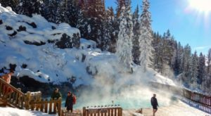Wyoming's Naturally Heated Outdoor Pool Is All You Need This Winter