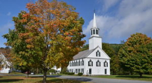 14 Quintessential Vermont Towns With Charming White Steeple Churches