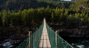 The Stomach-Dropping Suspended Bridge Walk You Can Only Find In Montana