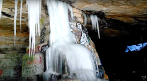 A Trip Inside Vermont's Frozen Cave Is Positively Surreal