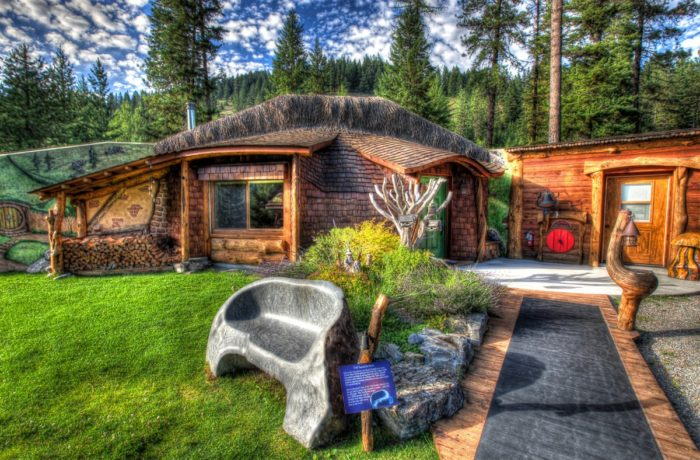 The Shire Of Montana Is A Private Guest House Located Deep In Woods Trout Creek