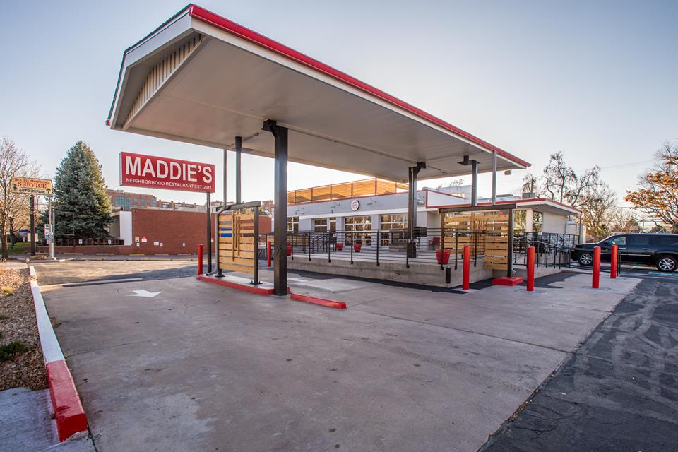 Old Gas Stations In Northern California: Maddie's Restaurant Is A Denver Restaurant Found In An Old