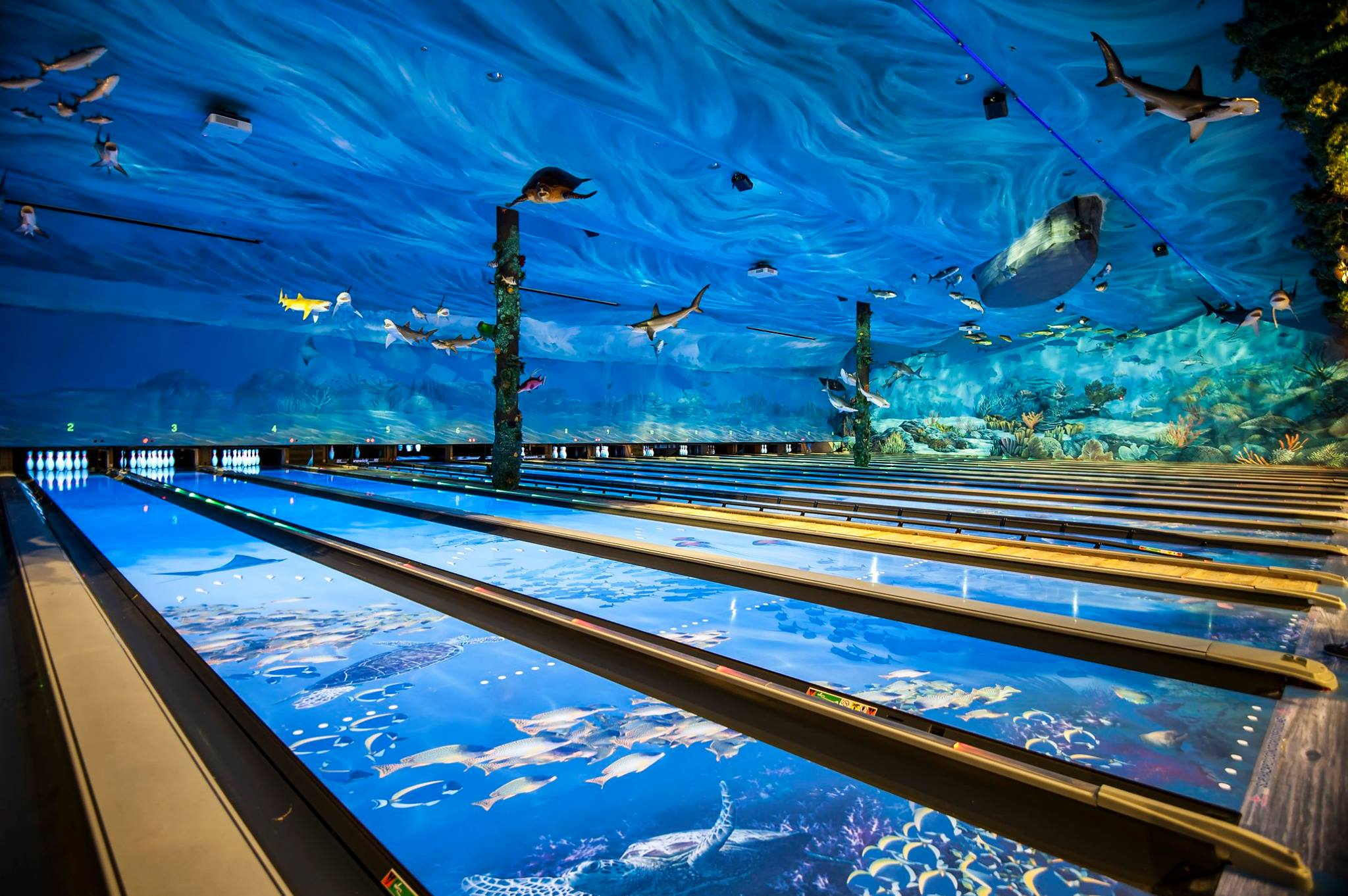 this oneofakind ocean themed restaurant and bowling