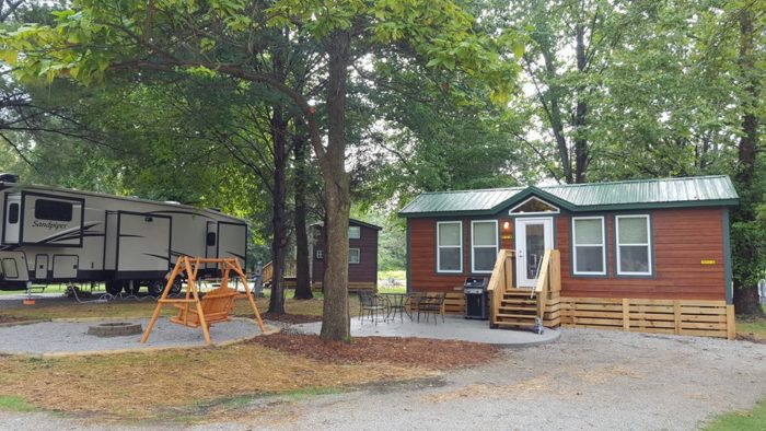 koa lebanon cincinnati ne is best log cabin campground