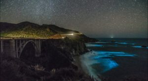 California's Glowing Waves Are A Strange Phenomenon That Will Take Your Breath Away