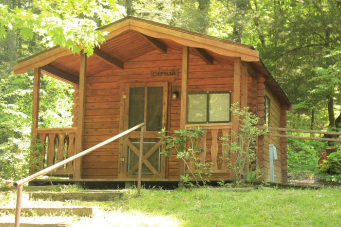 Odetah Log Cabin Campground In Connecticut May Make