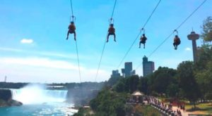 This Epic Zip Line Will Take You High Above Niagara Falls
