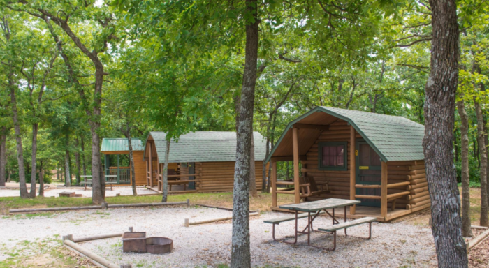 This KOA Location Is Unique, In That It Not Only Offers Tent And R.V.  Camping, But It Also Has A Variety Of Log Cabins For Rent.
