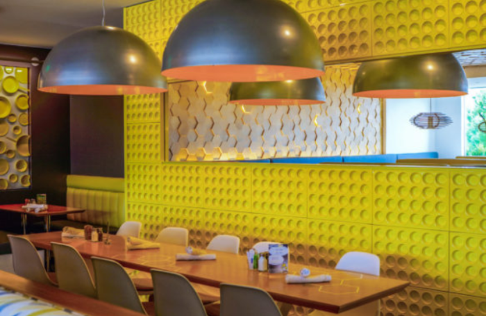 The Yellow Hues Found Throughout Interior Of Hastag Create A Setting That Becomes Bright Way To Start Your Day