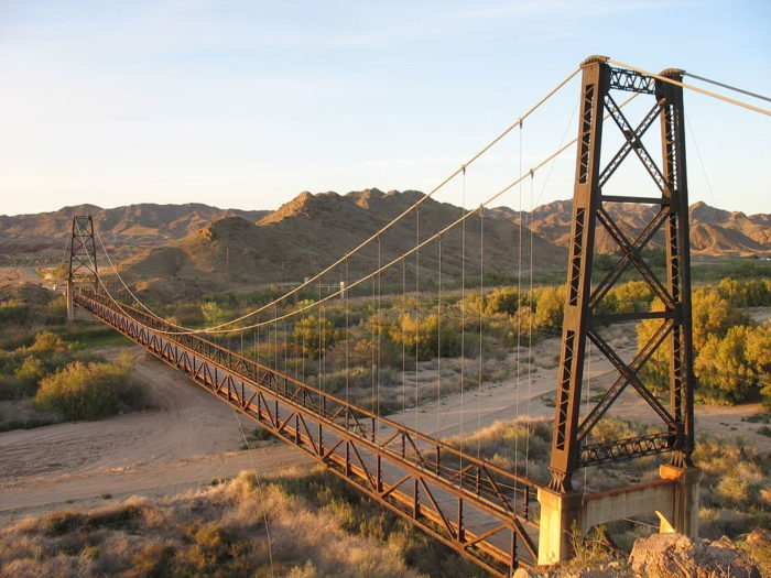 A Bridge To Nowhere Sits Near Yuma Arizona