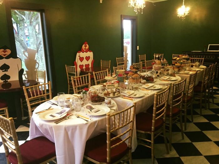 this alice in wonderland tea room in mystic connecticut is