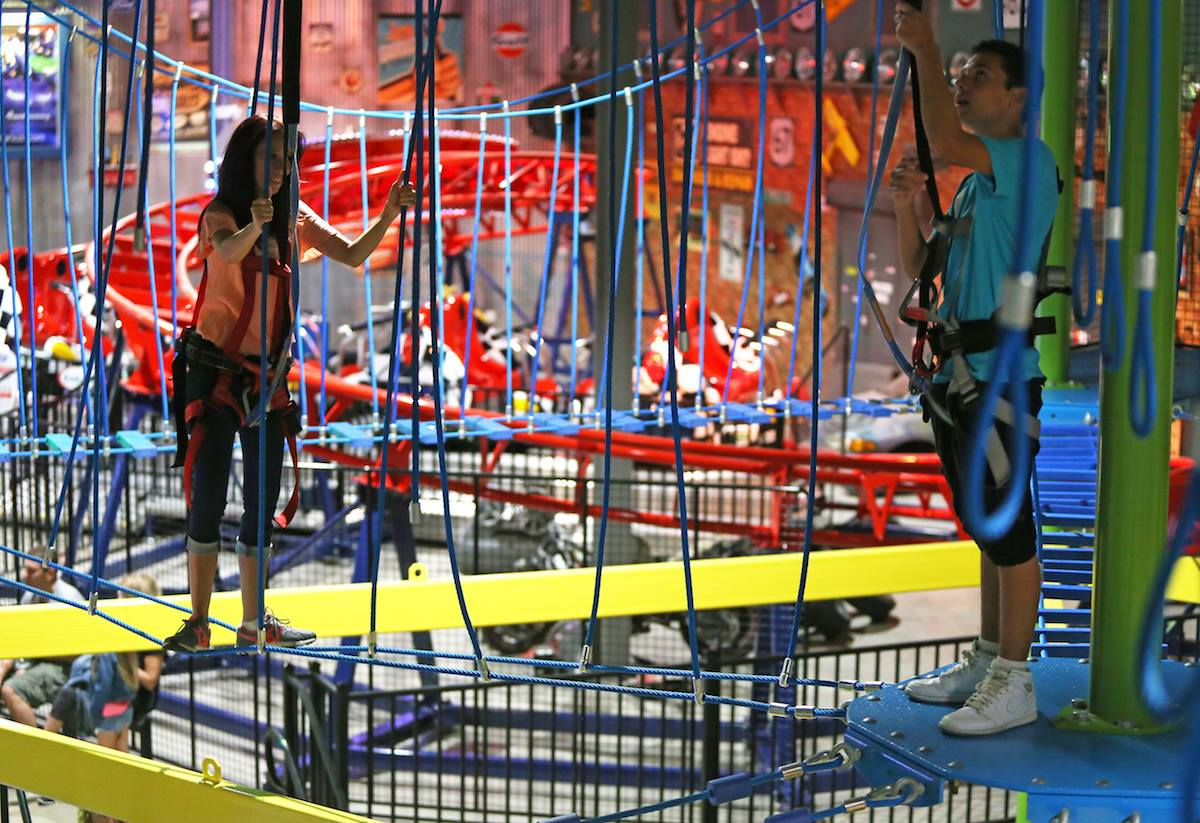 Don T Miss The Best And Largest Indoor Ropes Course In New