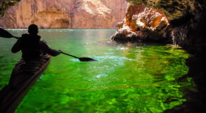 Take A Day Trip To Explore This Cave Full Of Emerald Green Water Just Outside Of Nevada