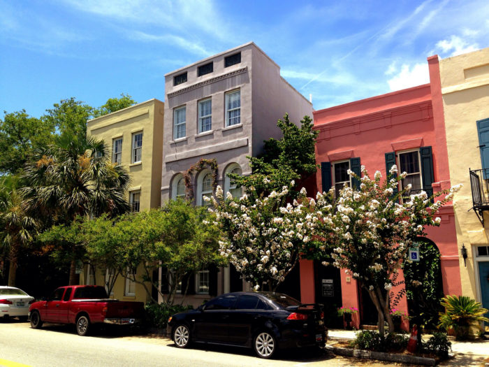 Flat rock is considered the little charleston in the for Charleston row houses