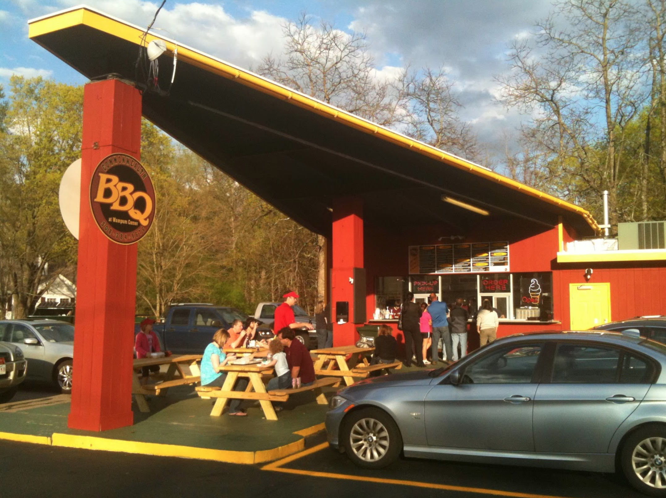 Commonwealth Bbq In Massachusetts Is A Former A Gas Station