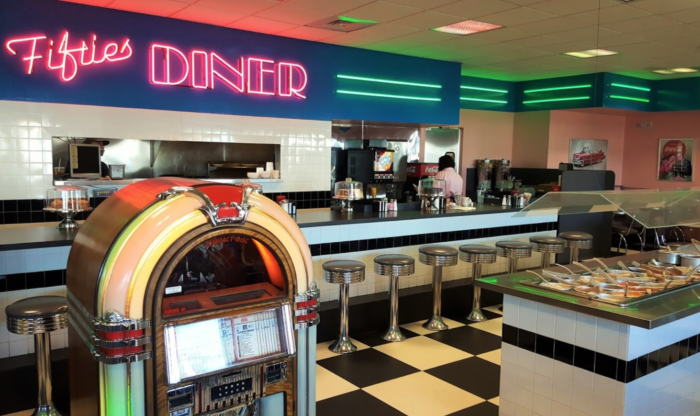 Fifties Diner Is A Retro 1950s Themed Restaurant In Massachusetts