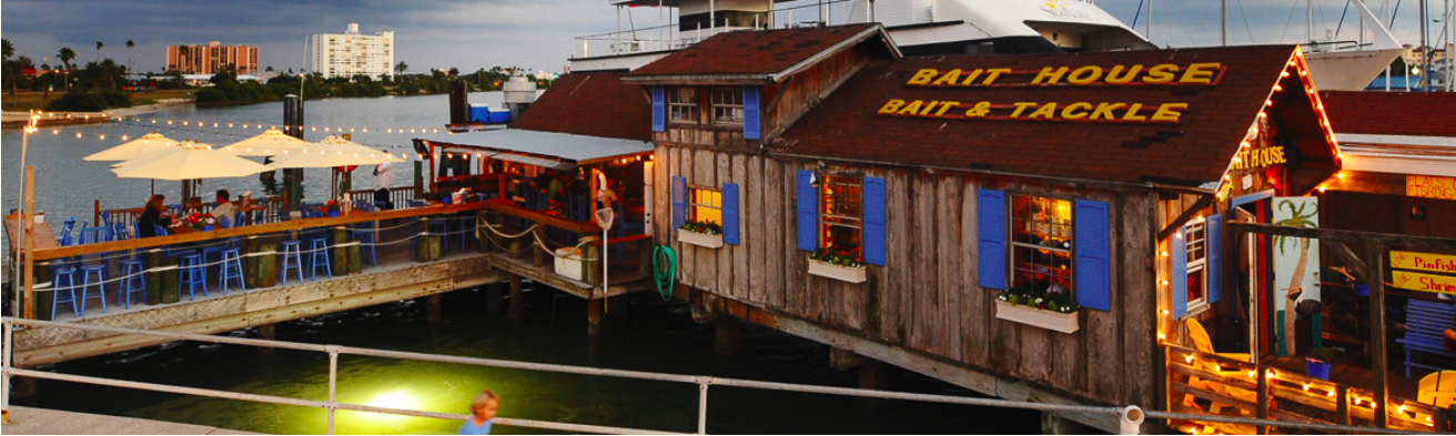 The bait house in clearwater florida is a waterfront for Mass street fish house