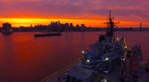 A Drone Flew Over The Battleship New Jersey And Captured Mesmerizing Footage