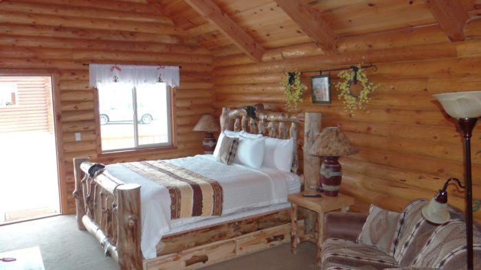 Every Cabin Is All Decked Out With Gorgeous, Hand Crafted Log Furniture.