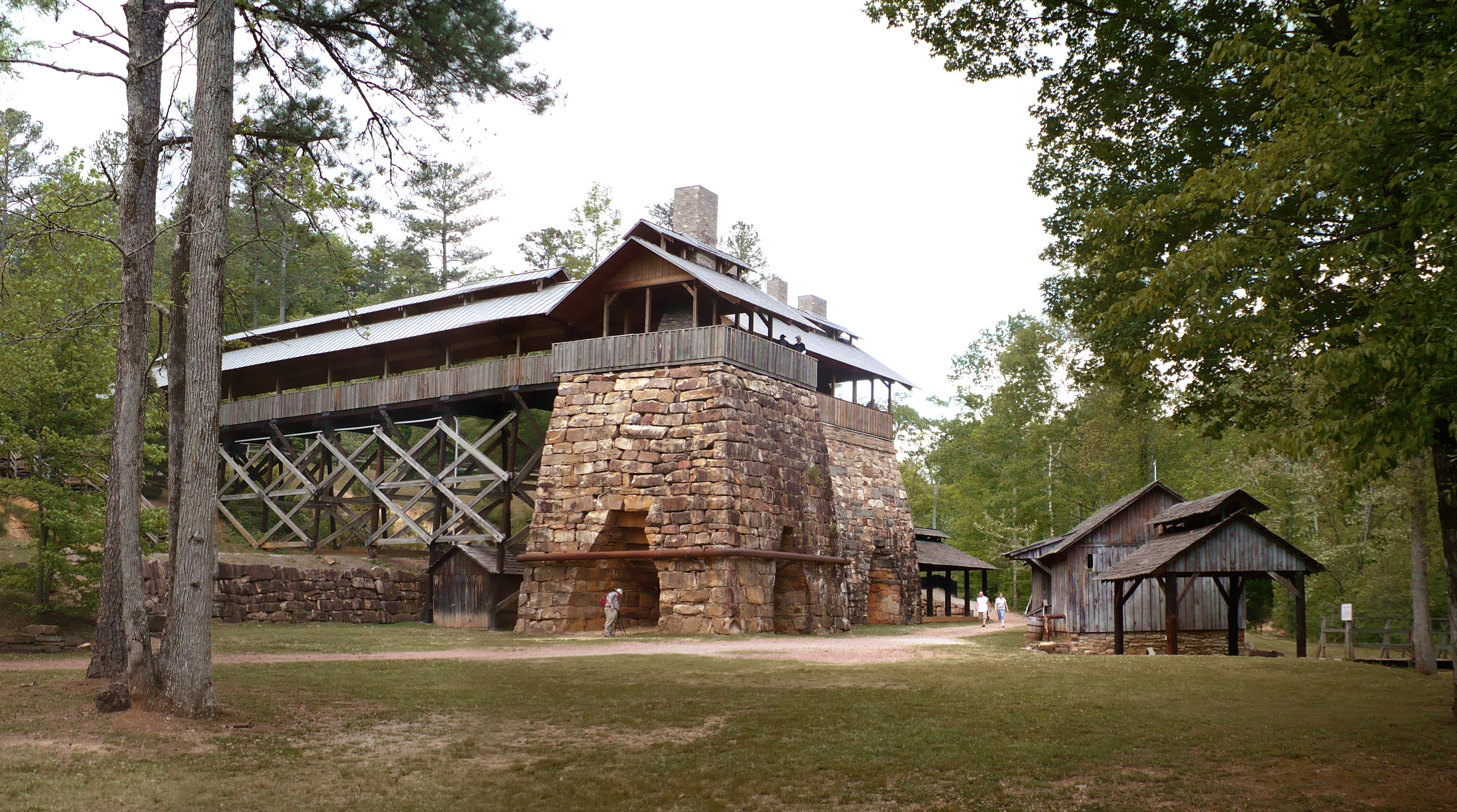 tannehill ironworks historical state park in alabama is