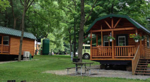 This Log Cabin Campground In Ohio May Just Be Your New Favorite Destination