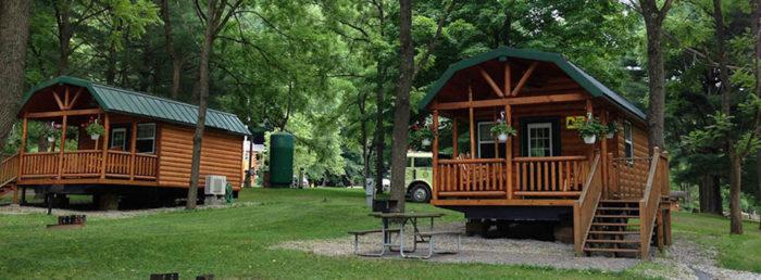 Log Cabin Campground In Ohio Austin Lake Rv Park Amp Cabins