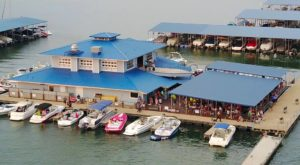 This Floating Restaurant Has Some Of The Most Enchanting Waterfront Views Near Austin