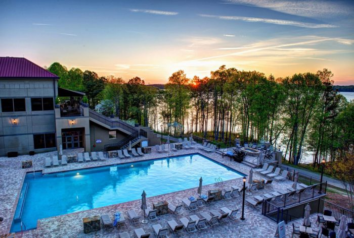 About Lake Lanier. Lake Lanier, on the Chattahoochee River in Georgia, is the most popular lake in America's southeast region. It is a product of the completed Burford Dam, making Lake Lanier a 38,acre reservoir for fishing and boating.