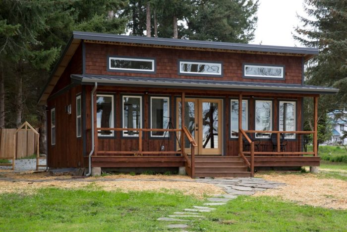 This Modern Cabin Is Located On Camano Island, Surrounded By Private  Property.