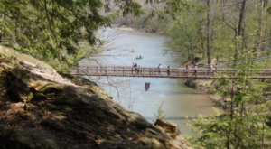 The Stomach-Dropping Suspended Bridge Walk You Can Only Find In Indiana