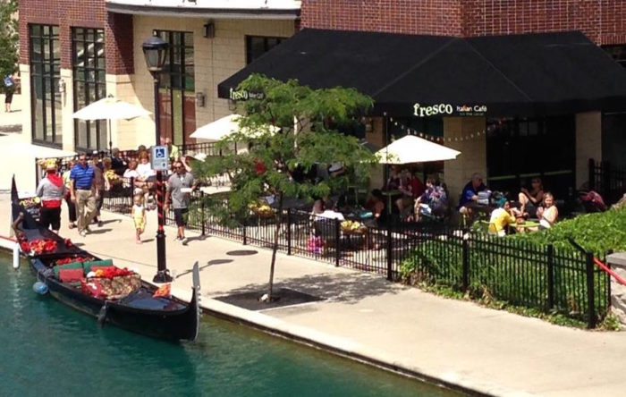 Dine On The Patio At Fresco On The Canal In Indianapolis