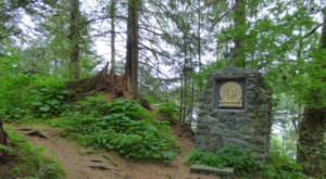 Follow This Trail To A Peaceful Shrine Hiding In The Middle Of A Forest In Alaska