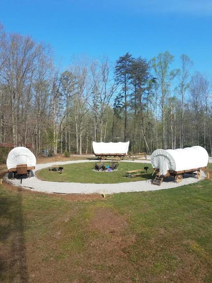 The Covered Wagons At Sheltowee Trace Adventure Resort Are An Adventurous Overnight Stay In Kentucky