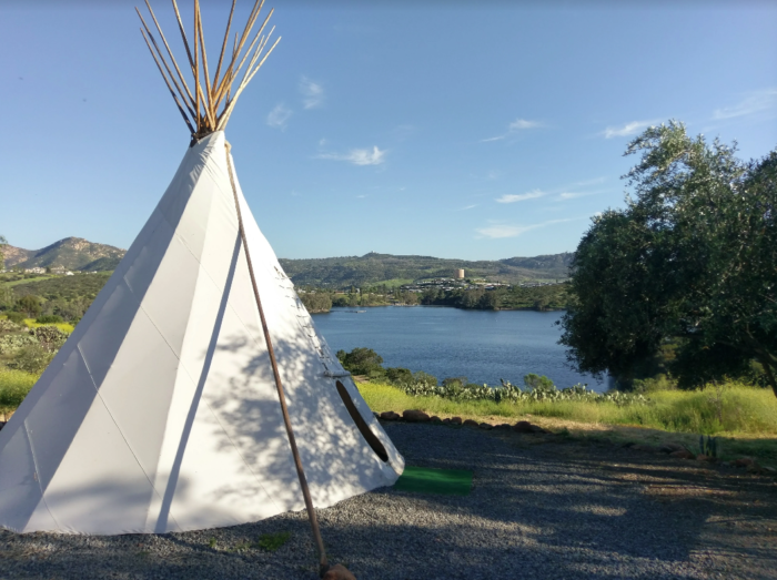 Spend The Night In A Teepee At Lake Jennings Campground In