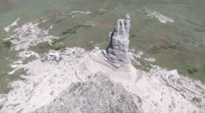 This Mesmerizing Drone Footage Takes You High Above Nebraska's Chimney Rock Like Never Before
