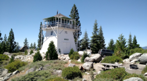 Spend The Night High Above The Trees In This Extraordinary Northern California Fire Lookout
