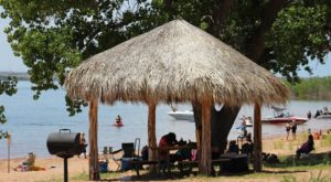 Spend The Day On This Sandy Beach For A Lake Experience Unlike Any Other In Oklahoma