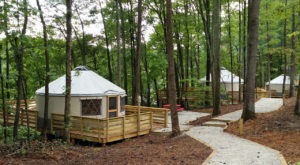 This Georgia Park Has A New Yurt Village, and It's Absolutely To Die For