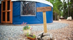 This Maine Park Has A Yurt Village That's Absolutely To Die For