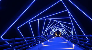 This Full Moon Bike Ride Crosses The Most Stunning Bridge In Iowa
