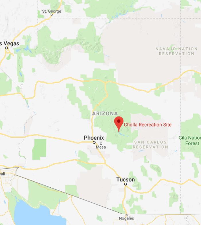 Camp Arizona Reservations: Cholla Campground In Arizona's Tonto National Forest Is