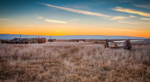 The Desolate Northern California Ghost Town That's Being Swallowed Whole By A Marsh