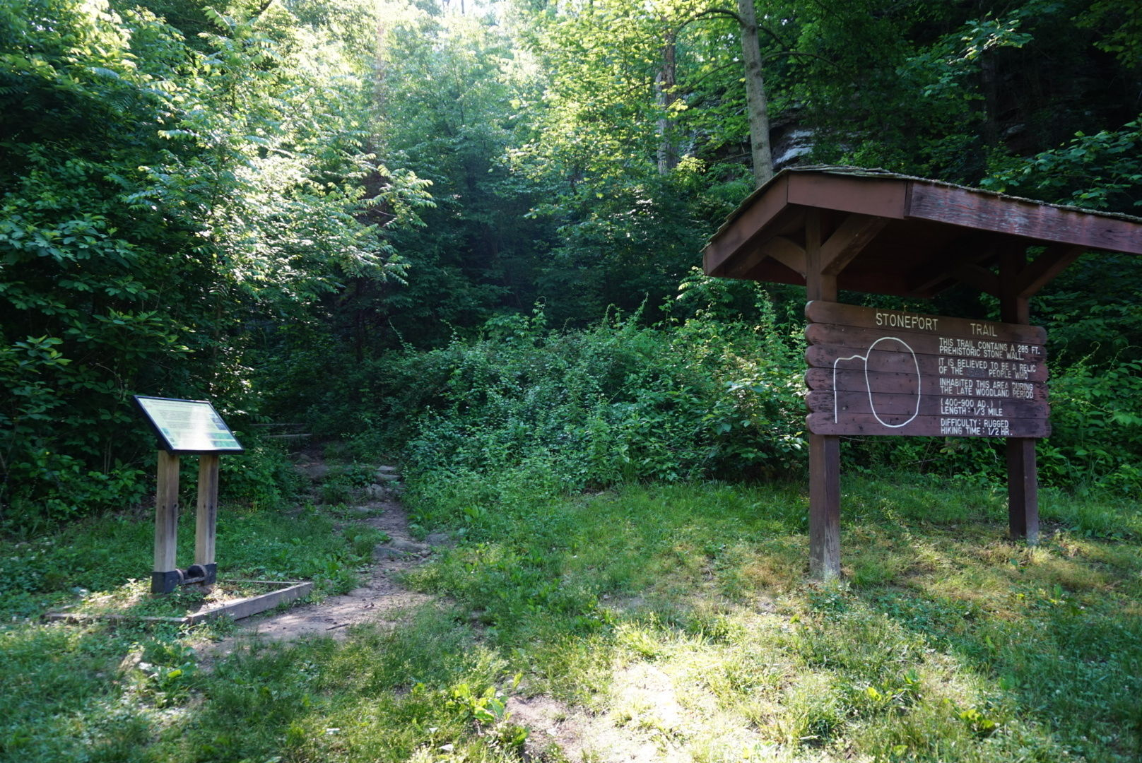 Stone Fort Trail Leads To The Oldest Prehistoric Fort In ...  Prehistoric