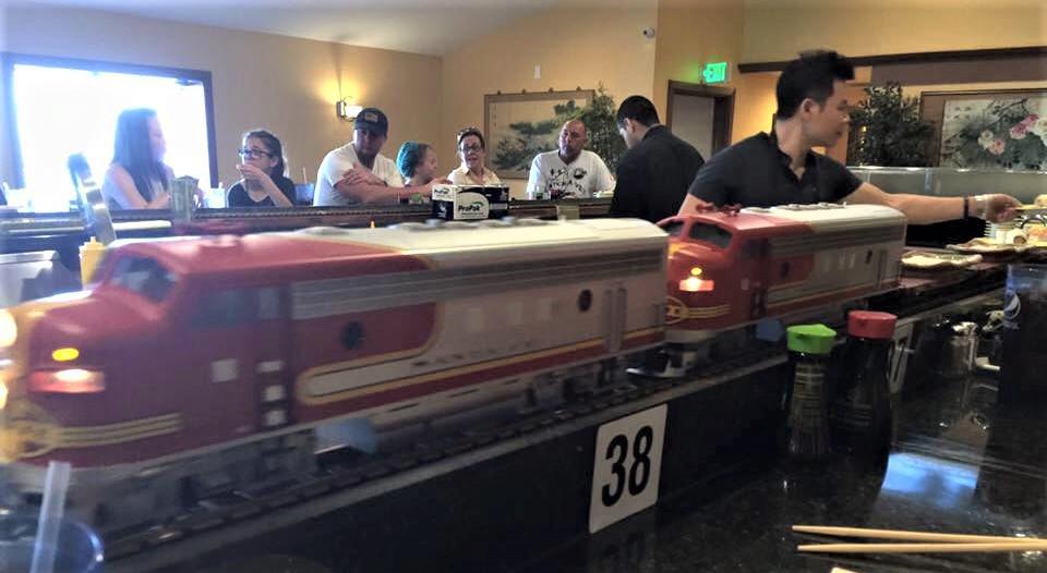 Snag Sushi By Train At Sakura Restaurant In Kansas