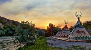 Spend The Night Under A TePee At This Unique Wyoming Campground